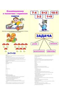 Знакомство С Задачей 1 Класс По Математике